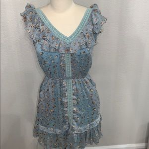 Angie ruffle floral dress sz S